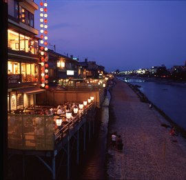Kamogawa no Yuka – River Dining
