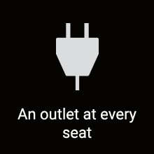 An outlet at every seat