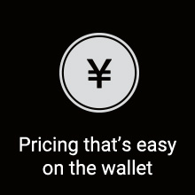 Pricing that's easy on the wallet